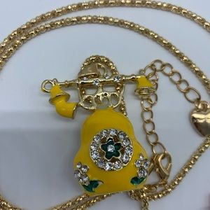 New yellow telephone fashion necklace for women
